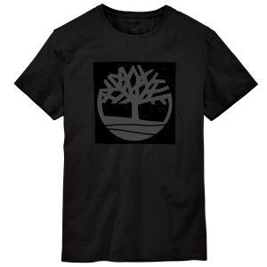 男裝KENNEBEC 季节性图案标志标准裁剪短袖T恤衫(树形和线形)
