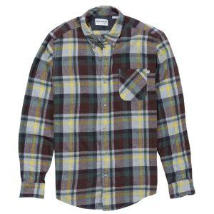 男裝SHEPHARDS RIVER 羊毛混纺法兰绒长袖衬衫