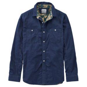 男裝BRANCH RIVER 纯色双层(迷彩细部)标准长袖 衬衫