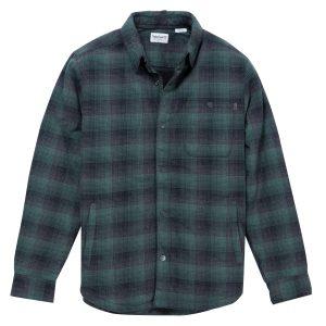 男裝MASCOMA RIVER 夏尔巴衬里格纹外套 式衬衫