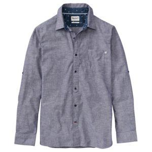 男裝MUMFORD RIVER青年布假领带 式标准剪裁长袖衬衫