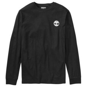 男裝背面迷彩树形品牌标识长袖T恤衫