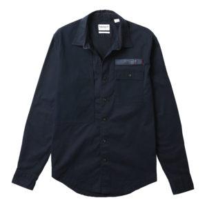 男裝AF LS SMITH RIVER 彈性防撕裂面料和斜紋布拼接面料修身長袖襯衫