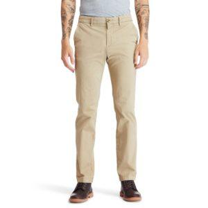 SQUAM LAKE弹性斜纹布直筒 卡其裤