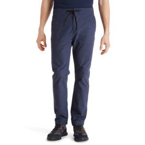 LOVELL LAKE斜纹布温暖手感 慢跑修身锥型长裤