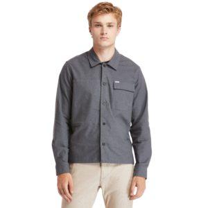 SMITH RIVER斜纹布混合棉衬 衫式长袖外套