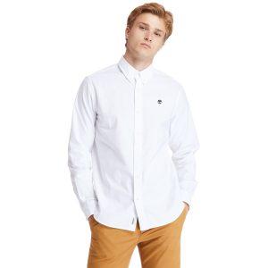 PLEASANT RIVER弹性牛津纺长 袖衬衫