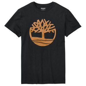 男裝季节性品牌标识图案短袖T恤衫