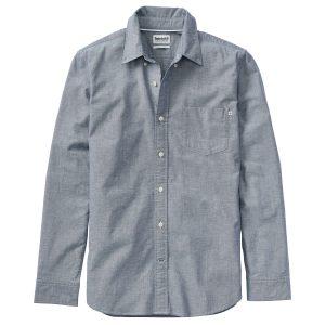 男裝PLEASANT RIVER弹力牛津纺标 准剪裁长袖衬衫