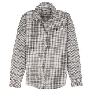 男裝SUNCOOK RIVER 细格纹提花免 熨修身长袖衬衫