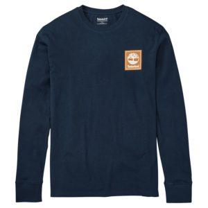 男裝基础款品牌标识长袖T恤衫