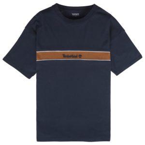 男裝条纹线形品牌标识箱型短袖T恤衫