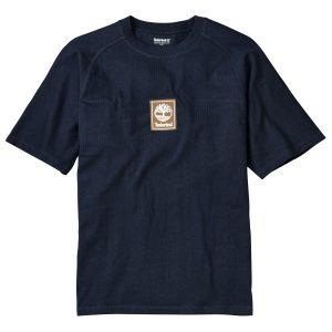 男裝后背线形品牌标识短袖T恤衫