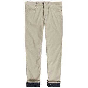 男裝MIRROR LAKE COOLMAX®五 袋翻边长裤