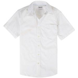 男裝PLEASANT弹力牛津纺标准剪裁 短袖衬衫
