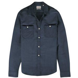 男裝MILL RIVER 棉麻混纺青年布素 色修身长袖衬衫