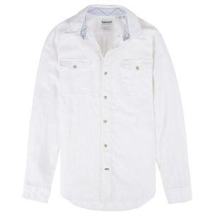 男裝MILL RIVER 棉麻混纺修身长袖工装衬衫