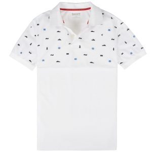 男裝STILL RIVERCOOLMAX®+防紫 外线单珠地面料刺绣设计修身短袖POLO 衫