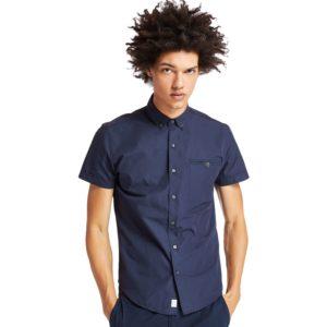 短袖STILL RIVER 棉质纯色修身衬衫 COOLMAX® 面料+ UV防护