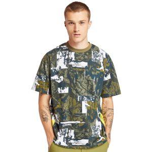 野外迷彩印花T恤衫(寬松)
