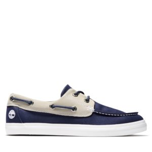 Union Wharf 2-Eye Boat Leather and Fabric Oxford
