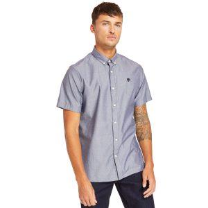 短袖ELA RIVER ELEVATED牛津纺纯色修身衬衫