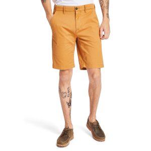 SQUAM LAKE 弹性斜纹布 直筒卡其短裤