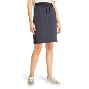 罗纹贴片毛圈布短裙