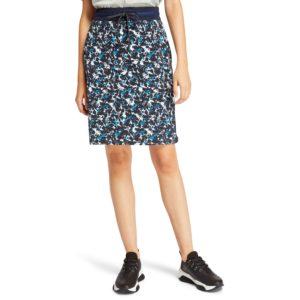羅紋貼片毛圈布短裙