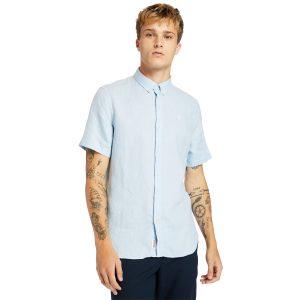 MILL RIVER 亚麻短袖衬衣(修身)