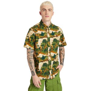 FIELD TRIP印花短袖衬衣(常规)