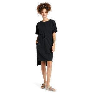 腰部系带 T恤连衣裙(宽松)
