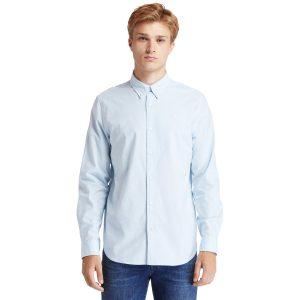 PLEASANT RIVER弹性牛津纺长袖衬衣 (常规)